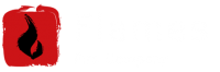 Flames Fire Company Desktop Logo light