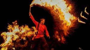 Mittelalter Feuershow