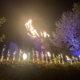 Riesen Feuerfächer und Lanzenlichter in Dortmund