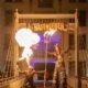 Feuerspucken auf der Brücke
