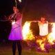 Feuershowpärchen bei Hochzeit in Velen