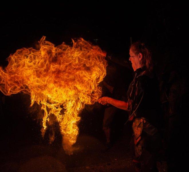 Feuereffekt Bärlapp