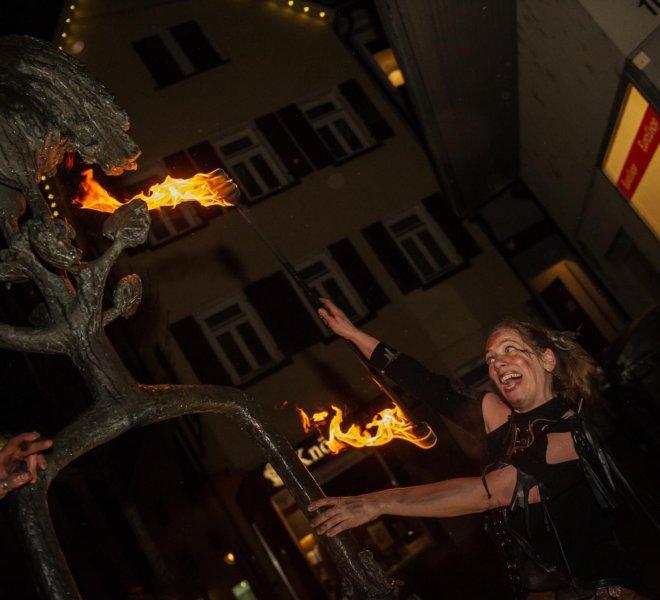 Feuerspaß in der Reutlinger Innenstadt