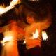Feuerkünstlerpaar in Motion bei Feuershow in Hamm