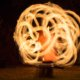 Langzeitbelichtung Feuerpoi bei Feuershow in Hamm