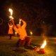 Feuerschlucken bei Feuershow in Hamm