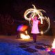 Fächer Langzeitbelichtung bei Feuershow in Hamm