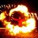 Feuereffekt in Grefrath beim Romantischen Weihnahctsmakrt