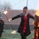 Soppelstabtanz in Grefrath beim Romantischen Weihnahctsmakrt