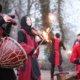 Feuershow in Grefrath beim Romantischen Weihnahctsmakrt